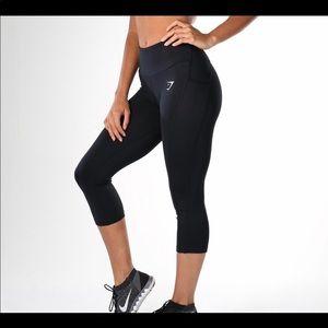 Gymshark Dry Sculpture Black Crop Workout Legging
